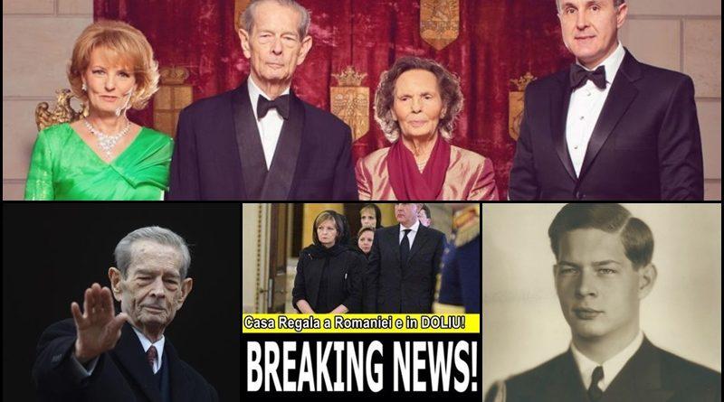 Breaking News: A MURIT REGELE MIHAI. DOLIU NATIONAL!
