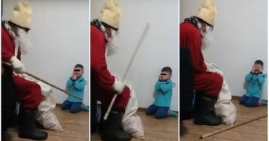 SOCANT: Copil de 5 ani traumatizat cu Mos Nicolae | foto-video. Tu ce parere ai?