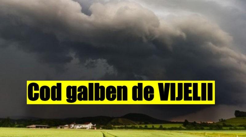 Alertă METEO: Cod GALBEN de ploi torenţiale şi furtuni în 16 judeţe. HARTA judeţelor afectate! #Distribuie
