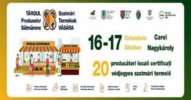 16-17 octombrie, Parcul Dendrologic din Carei – Târgul Produselor Sătmărene!